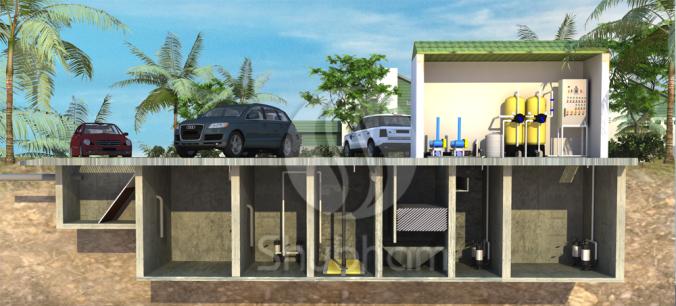 FRP Sewage Treatment Plant